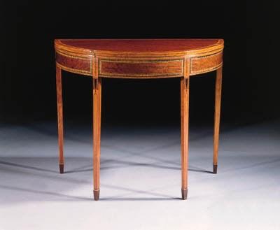 An English demilune mahogany a