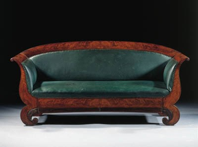 A Dutch Biedermeier mahogany c