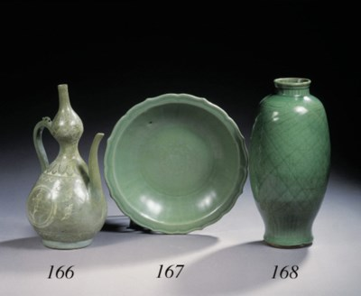 A Korean celadon-glazed inlaid