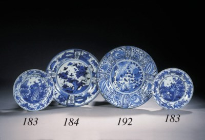 A large blue and white Arita d