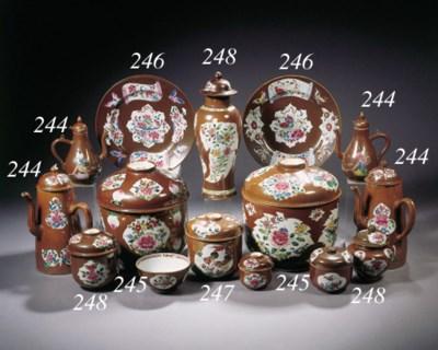 A set of seven famille rose Ba