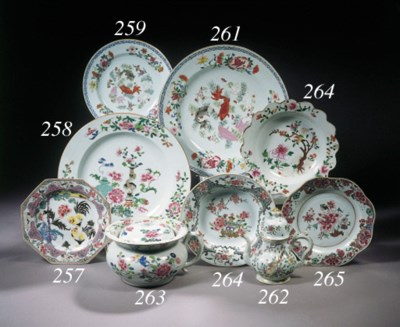 Two famille rose dishes
