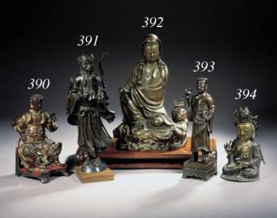A gilt-bronze figure of Avalok