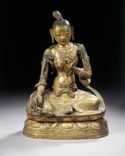 a tibeto chinese gilt-copper r