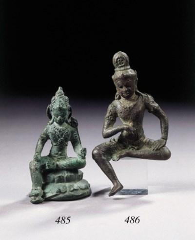 a javanese bronze figure of ma