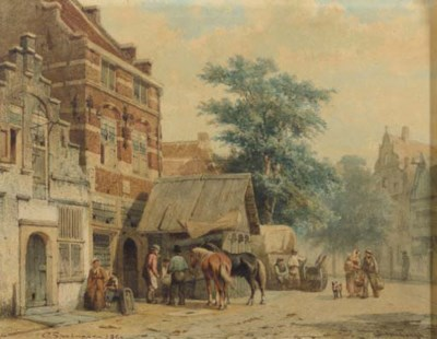 Cornelis Springer (Dutch, 1817