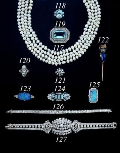 AN ANTIQUE OPAL, DIAMOND AND R