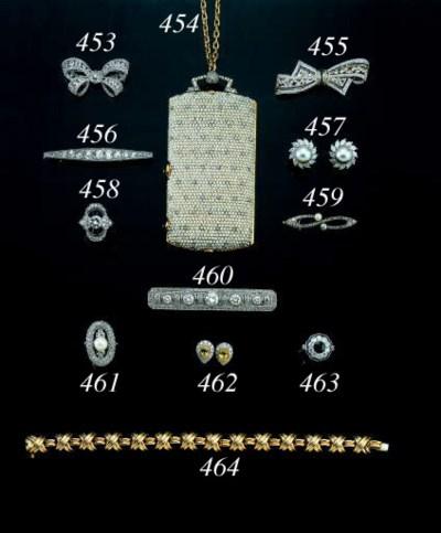 AN 18K GOLD, DIAMOND AND SAPPH