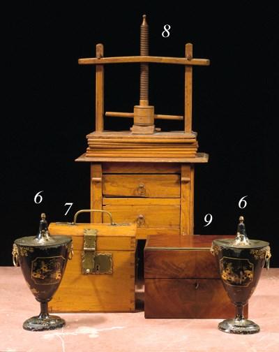 An English mahogany cellaret