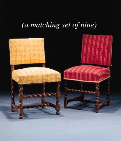A matched set of nine Dutch di