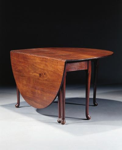 An English mahogany gateleg ta