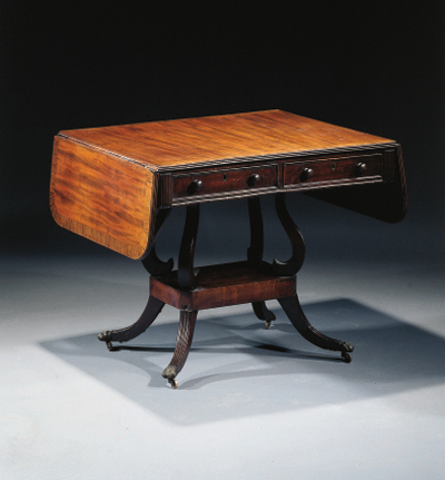 An English mahogany dropleaf-t