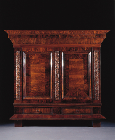 A North German walnut cupboard