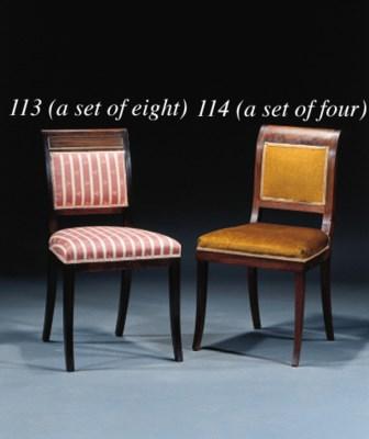 A set of four Dutch mahogany d