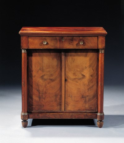 A Dutch mahogany side cabinet