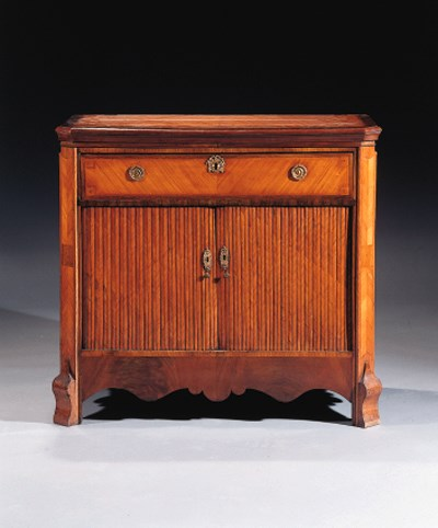 A Dutch harewood and rosewood