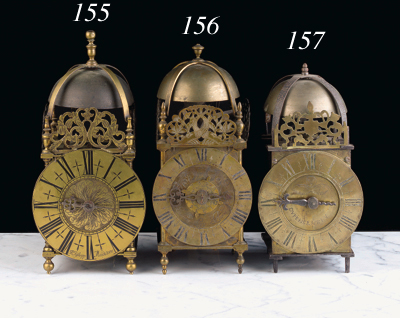 An English brass lantern clock