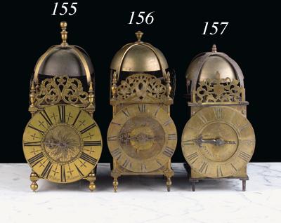 A French brass lantern clock