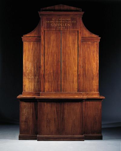 A Danish mahogany breakfront c