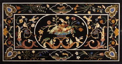 An Italian pietra dura and whi