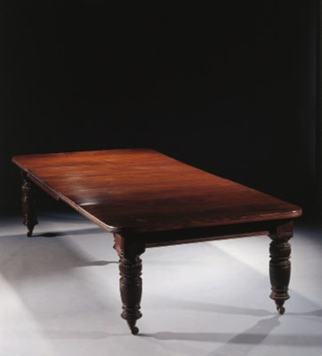 An English extending mahogany