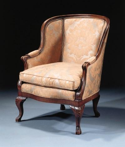 An English mahogany armchair
