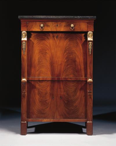 An Empire ormolu-mounted mahog