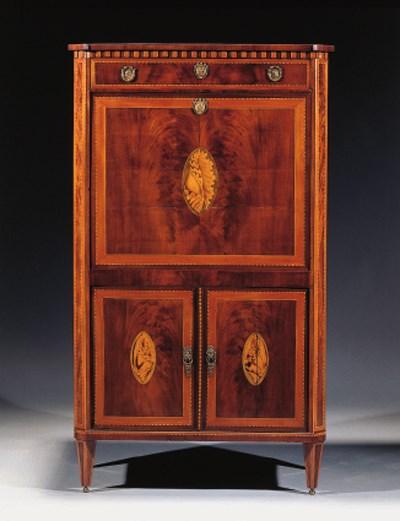 A Dutch Louis XVI marquetry, m