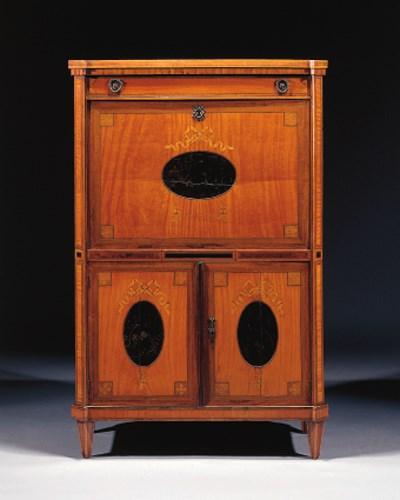A Dutch Louis XVI satinwood, r