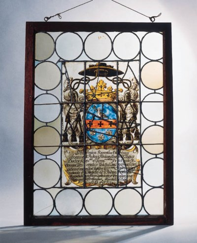 A stained glass ecclesiastical