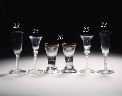 Four various white opaque-twis