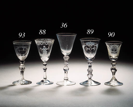 A Dutch-engraved anniversary goblet