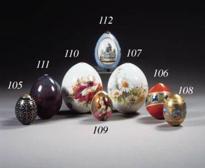 A Russian gilt easter egg