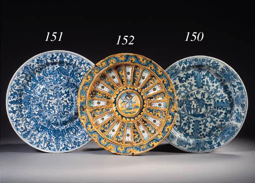 A Deruta maiolica blue and whi