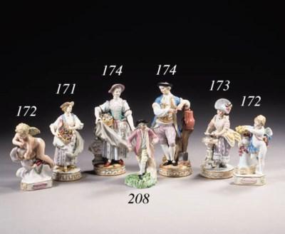 A Meissen figure of a cardplay