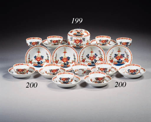 A Meissen Tischenmuster sugarbowl and cover