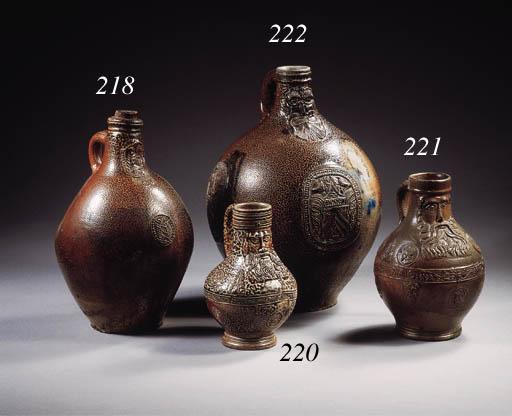 A Frechen stoneware armorial B