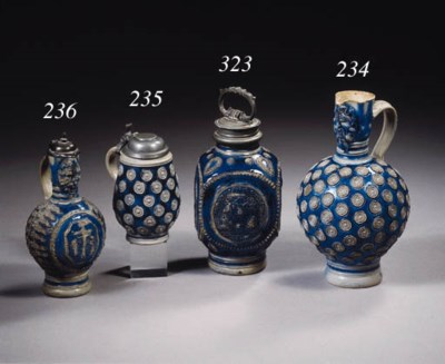 A Westerwald stoneware pewterm