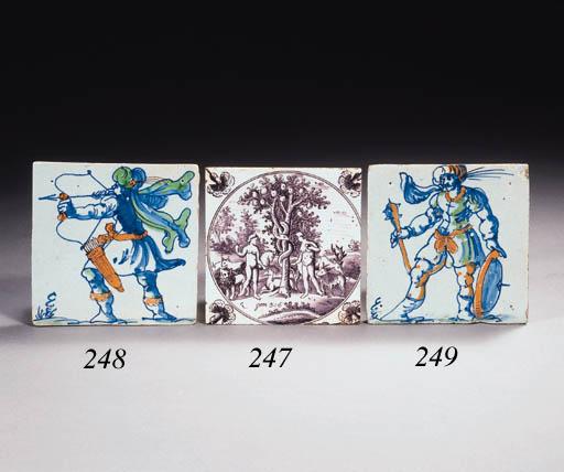 A Dutch Saracen warrior tile