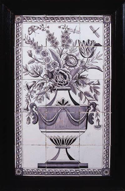 A Dutch Delft manganese floral