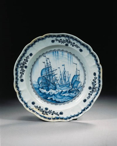 A Dutch Delft blue and white m
