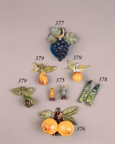 A Dutch Delft bunch of grapes