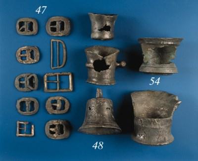 Fifteen assorted metal buckles