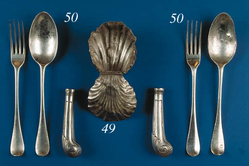 A set of five Dutch table fork