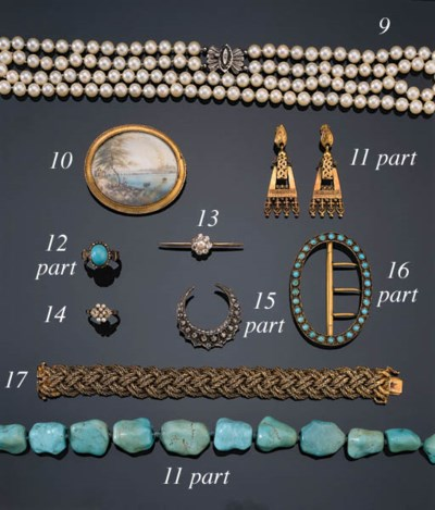 A DIAMOND AND PEARL BAR-BROOCH