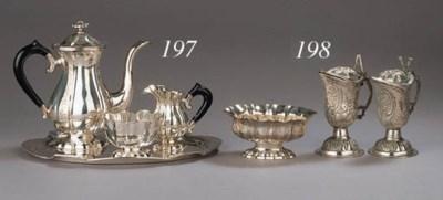 A four-piece silver mocha serv