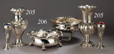 Two German silver fruit-dishes
