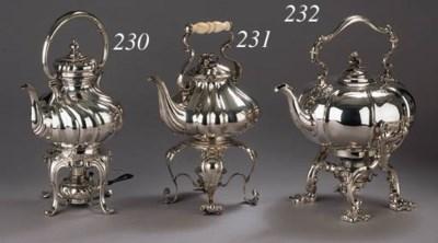 A Danish silver tea kettle, st