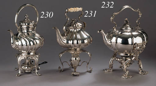 A Danish silver tea-kettle and