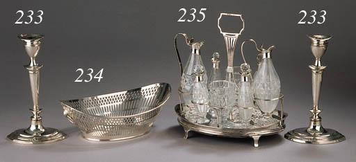 A silver breadbasket